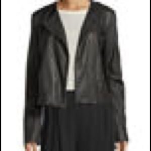 Vince zip front lamb leather brand new